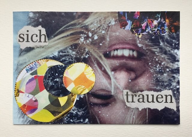 sich trauen, Collage, 15x10 cm, 2017, (c) Doreen Trittel