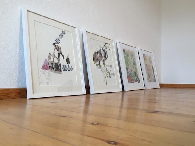 """Aufbau """"Künstlerischer Umgang mit Erinnerungen"""" , (c) Susanne Haun und Doreen Trittel"""
