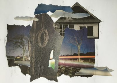 Dunkles helles Licht, Collage, Papier, 41 x 29 cm, 2016, (c) hehocra
