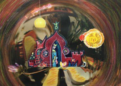 Es war einmal 3/5, Collage, Papier, Pastellkreide, 27 x 20 cm, 2015, (c) hehocra