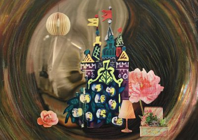 Es war einmal 1/5, Collage, Papier, Pastellkreide, 27 x 20 cm, 2015, (c) hehocra