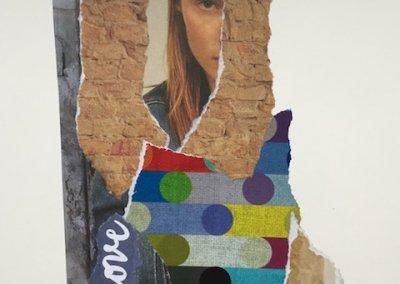 Love about you 1/3, Collage, Papier, 2016, (c) hehocra