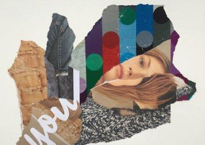 Love about you 3/3, Collage, Papier, 2016, (c) hehocra