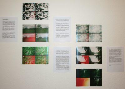 Tagebuch: Sommer 1987, Gesamtansicht, Fotografien (Lomografie) und Text, Größe variabel, 2013, (c) Doreen Trittel