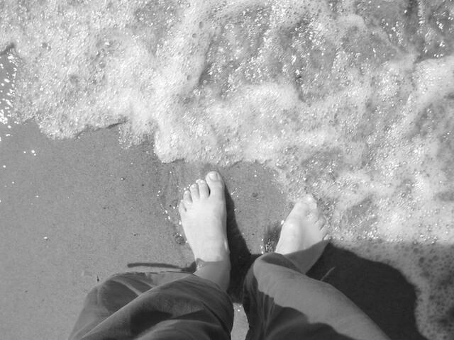 Eins mit den Wellen, Fotografie, digital sw, 2005, (c) Doreen Trittel