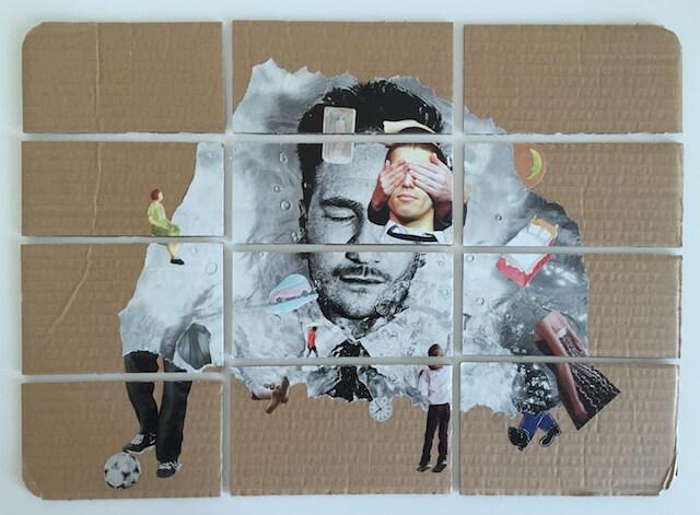 Halluzination, Collage, 39x29 cm, 2015, (c) hehocra