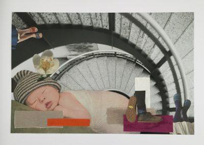 9-to-5 (09), Collage, mixed, 2016, (c) hehocra