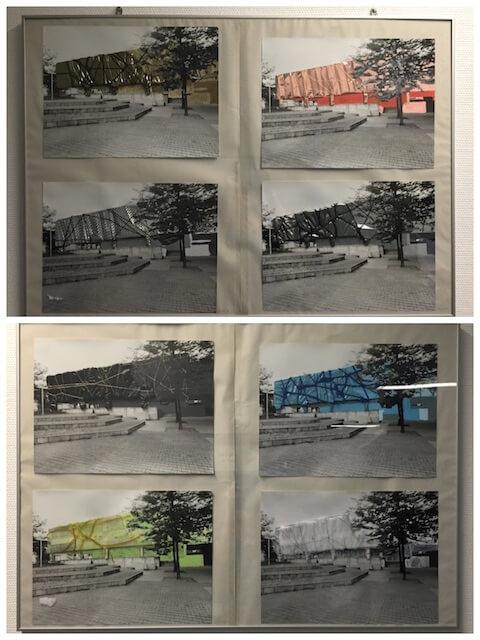 Mixedmedia-Arbeiten von SchülerInnen der Carl-von-Ossietzky-Schule, Berlin Kreuzberg