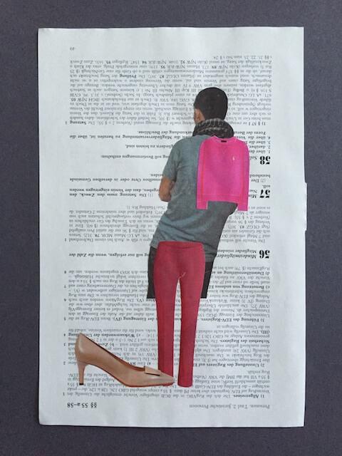 Ein schöner Rücken..., Collage, 2016, (c) hehocra