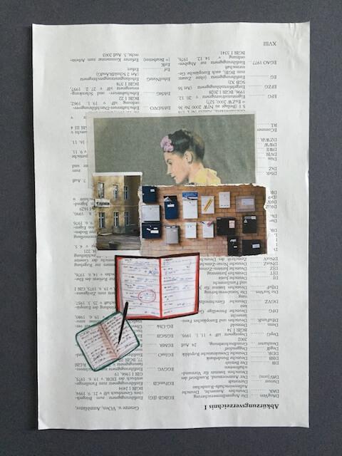 Schreiben für..., Collage, 2016, (c) hehocra