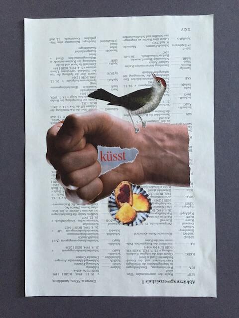 Eine Faust küsst, Collage, 2016, (c) hehocra