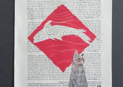 Die Katze findet den Fisch nicht, Collage, 2016, (c) hehocra