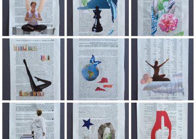 Collagen auf Seiten eines BGB-Kommentars, je 16x57 cm, 2016 (c) Doreen Trittel