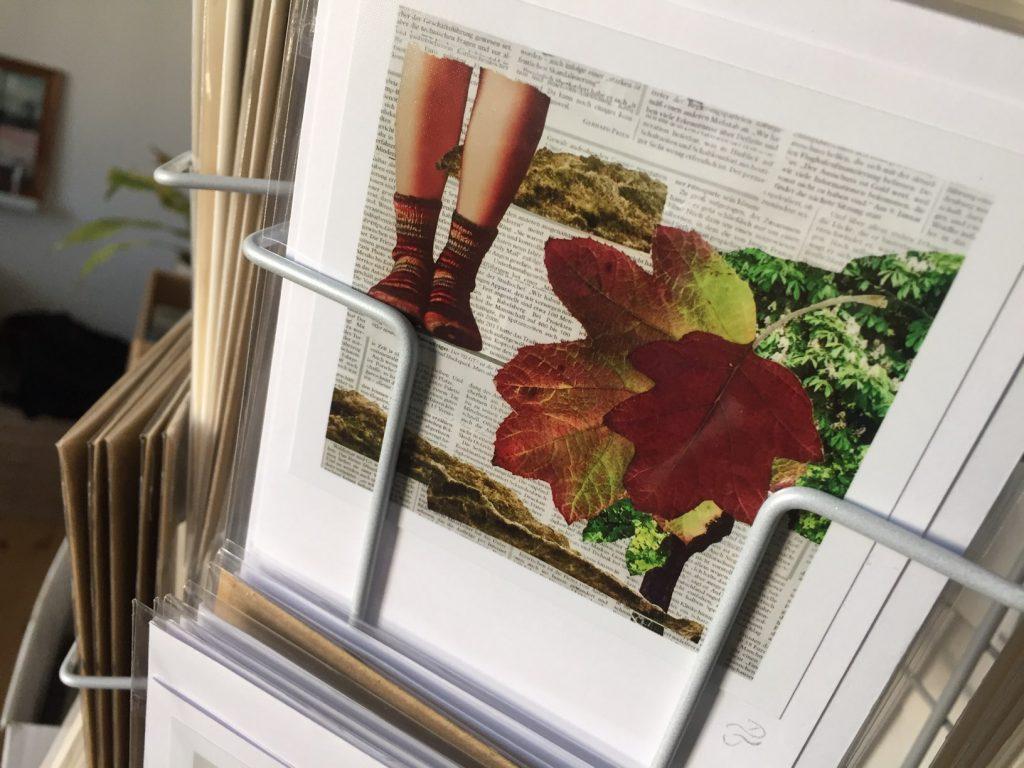 Der Herbst ist auch mit dabei, Collage (Ausschnitt) Grußkarte handgefertigt, (c) hehocra