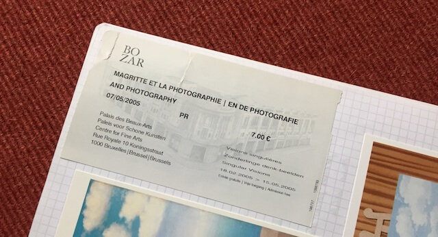 Eintrittskarte René Magritte, (c) hehocra