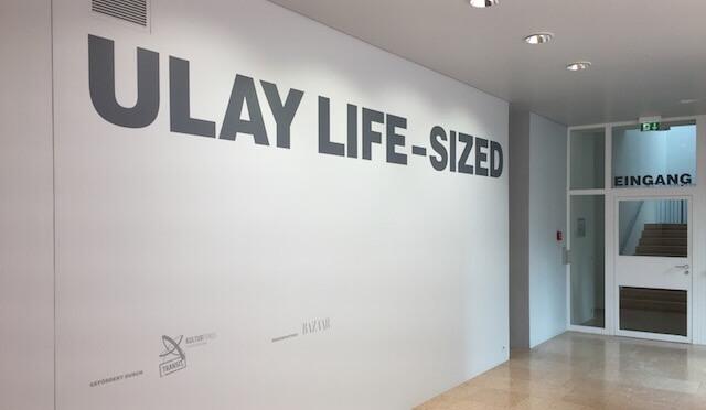 Ulay Life-Sized. Eingang zur Ausstellung Schirn, 2016, by hehocra