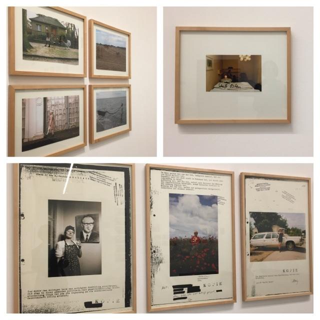 Blick in die Ausstellung von Cornelia Schleime: Fotos von Selbstinszenierungen zu ihren Erfahrungen in und mit der DDR; by hehocra