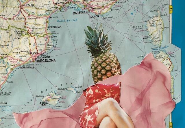Eine Ananas im Mittelmeer, Ausschnitt, Collage, (c) hehocra