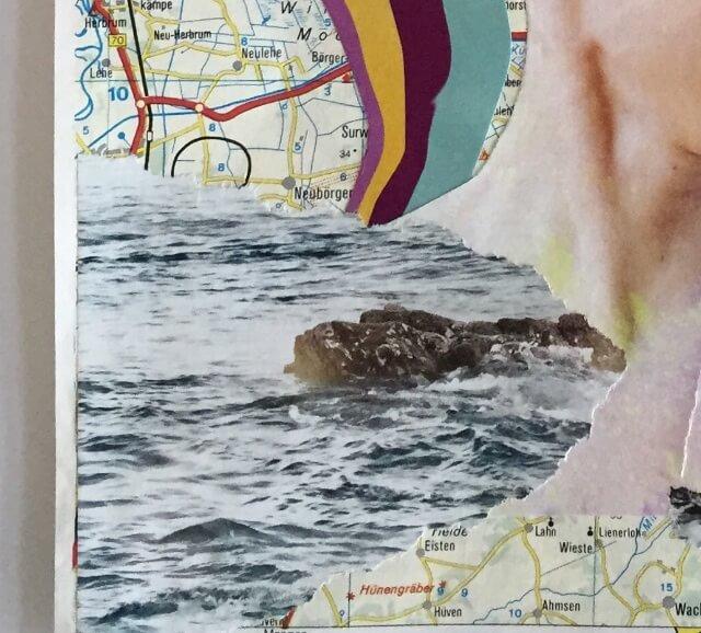 Lachen (Ausschnitt), Collage, Papier, (c) hehocra