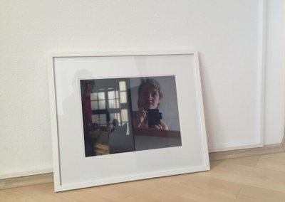 Sie sucht..., Fotografie, Diptychon, 64 x 54 cm mit Passepartout und Rahmen, 2016 (c)  hehocra
