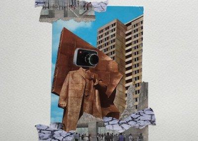 Postkartengrüße aus Berlin 1/16, Collage Papier, 32 x 24 cm, 2015, (c) hehocra