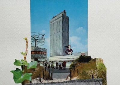 Postkartengrüße aus Berlin 3/16, Collage Papier, 32 x 24 cm, 2015, (c) hehocra