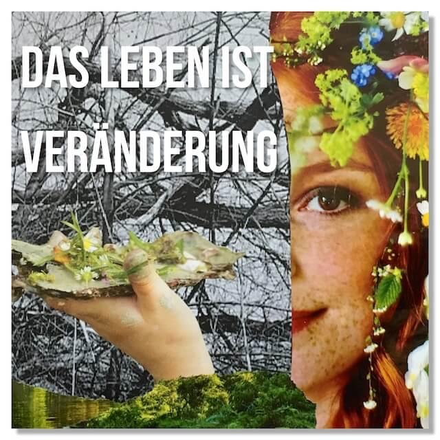 collage hehocra papier workinprogress haare lippen frau gesicht grün braun