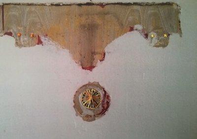 Typenschulbau 6/9, Fotografie auf Karton, Farbdruck, Stickereien per Hand, 27 x 20 cm, 2016, (c) hehocra