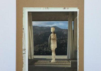 Fell-Frau, Collage auf Pappe, 27 x 36 cm, 2017, (c) hehocra