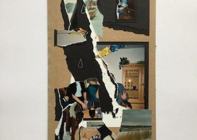Erinnerungen aus Fotoalben 1, Collage, 17 x 31 cm, 2016, (c) hehocra