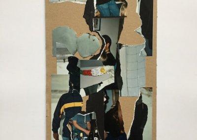 Erinnerungen aus Fotoalben 2, Collage, 17 x 31 cm, 2016, (c) hehocra