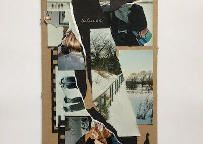 Erinnerungen aus Fotoalben 3, Collage, 17 x 31 cm, 2016, (c) hehocra
