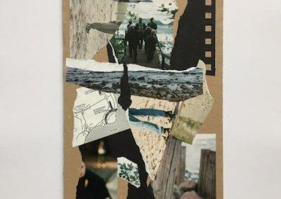 Erinnerungen aus Fotoalben 4, Collage, 17 x 31 cm, 2016, (c) hehocra