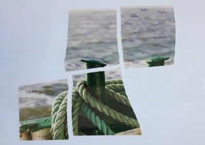 schweigen (3), Collage, 59 x 41 cm, 2016, (c) hehocra