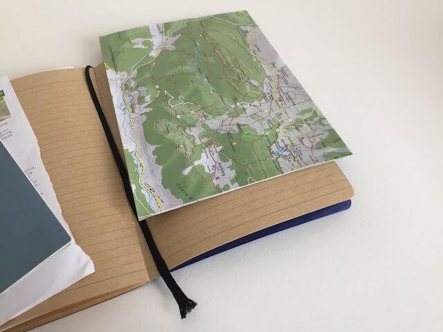 Landkarte im Reisetagebuch, by hehocra