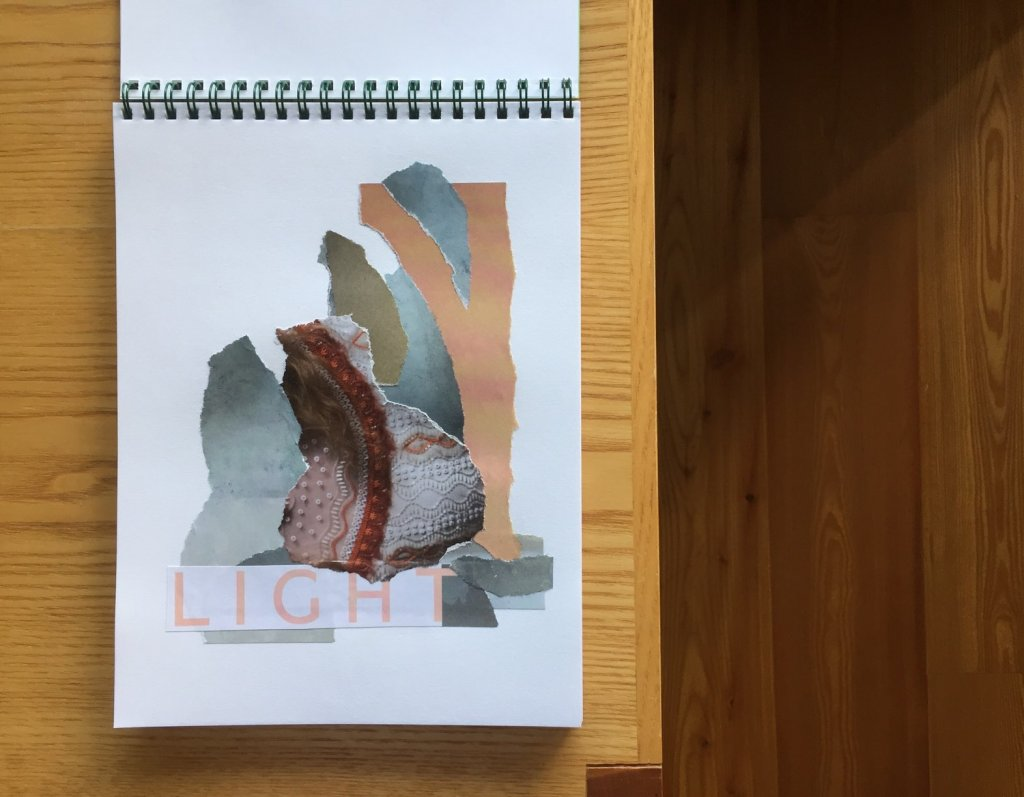 Light, Collage, Papier, 14 x 20 cm, 2017, (c) Doreen Trittel