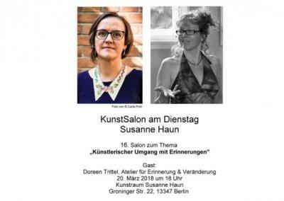 KunstSalon, Doreen Trittel zu Gast bei Susanne Haun