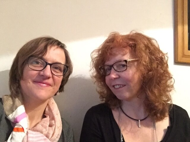 KunstSalon - Der Prozess des Werdens, Doreen Trittel (li.) und Susanne Haun (re.), Foto by hehocra
