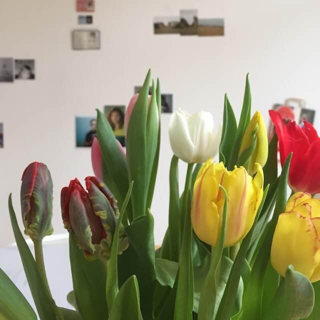 """Tulpen vor der Installation """"Künstlerischer Umgang mit Erinnerungen"""", 2018, (c) Susanne Haun und Doreen Trittel"""