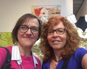 Susanne Haun (r) und Doreen Trittel (l) bei Eva & Adele in der Ausstellung L'AMOUR DU RISQUE, im me Collectors Room, Berlin 2018, Foto Doreen Trittel
