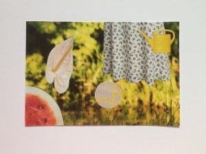 Sommergelb. Collage, 10x15 cm, 2018, (c) Doreen Trittel