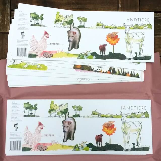 """Aufhänger zum Buch """"Landtiere"""" im Eichhörnchenverlag, (c) Nina Schuchardt"""