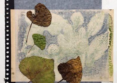 Blätter Zeiten 2/9, Collage, (c) Doreen Trittel