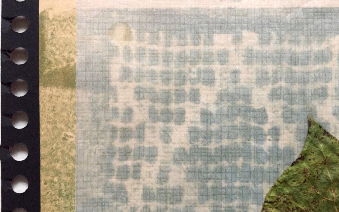Blätter Zeiten 5/9 Ausschnitt, Collage, (c) Doreen Trittel