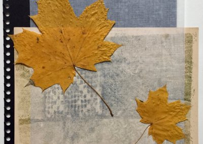 Blätter Zeiten 8/9, Collage, (c) Doreen Trittel