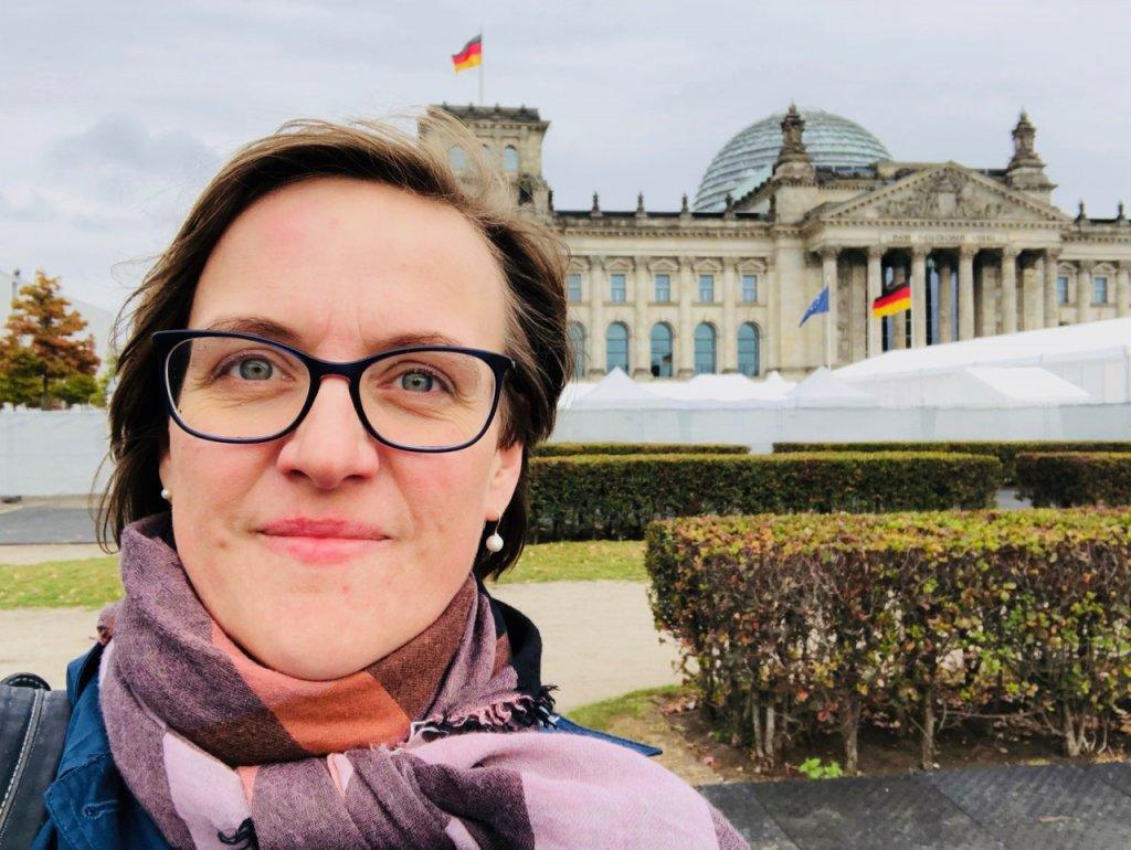Doreen Trittel beim Tag der Deutschen Einheit in Berlin