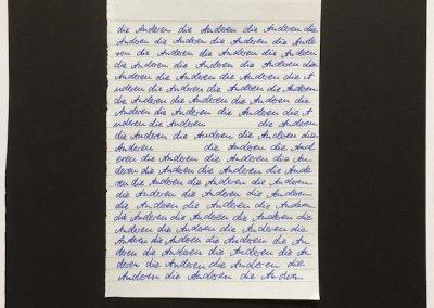 Die Anderen, Wort Collage, Serie/ Teil einer Installation,  2017 (c) Doreen Trittel