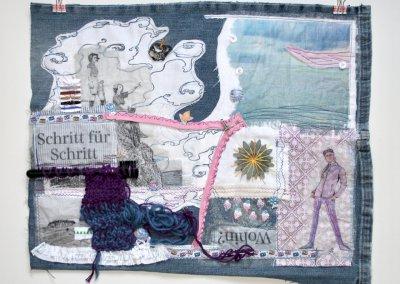 Durchs Leben gehen,  Collage, mixed, 51 x 42 cm, (c) Doreen Trittel