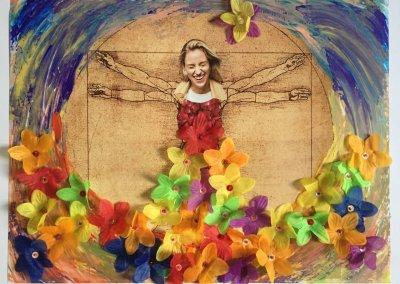 Ja zum Leben 1, Collage, Materialmix, 59x42 cm, 2018, (c) Doreen Trittel