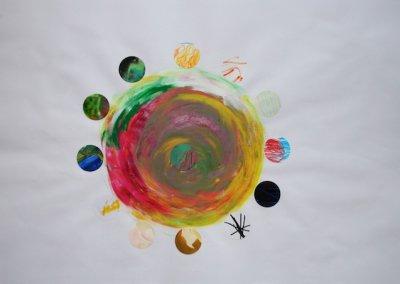 Reise ins Innere Collage, Nr. 5 von 7, 59x42 cm, 2017 (c) Doreen Trittel